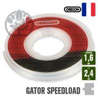 Fil débroussailleuse 2,4 x 1,6 mm Orégon Gator SpeedLoad
