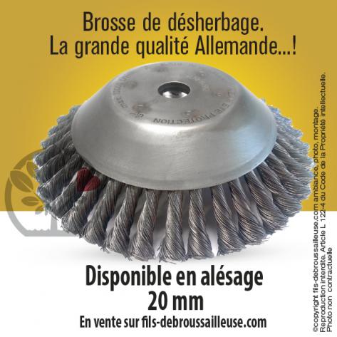 MasterBrosse 360. Pour désherbage. Ø 230 mm. Al 20 mm