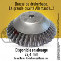 MasterBrosse 360. Pour désherbage. Ø 230 mm. Al 25,4 mm