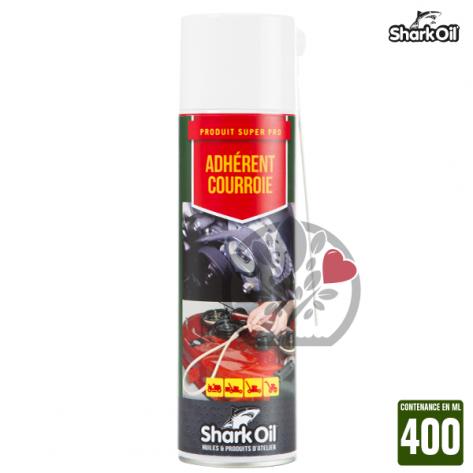 Adhérent courroies de tondeuse Shark Oil. 400 ml