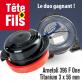 Tête débroussailleuse 396 F One + fil Titanium 3 x 56 mm
