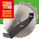 Kit Trio lames débroussailleuse. Spécial genêts, arbustes, ronces