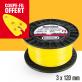 Fil débroussailleuse Orégon Rond Yellow jaune. 3 mm x 120 m. Bobine