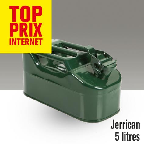 Jerrican métal. 5 litres.