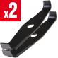 2 lames droite long. 300 mm. Al 25,4 mm. Ep 3 mm. Spéciale ronce