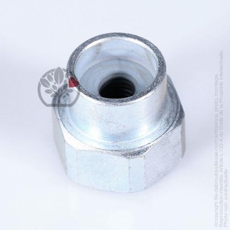 Adaptateur tête débroussailleuse M10 x 1,25 LHF pour Tecomec