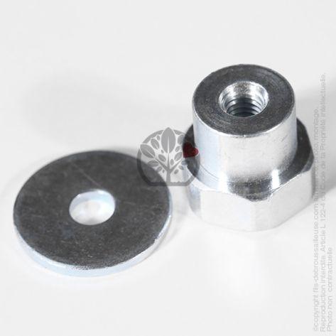 Adaptateur tête débroussailleuse M8 x 1,25 RHF pour Tecomec Easy Work Ø109 mm