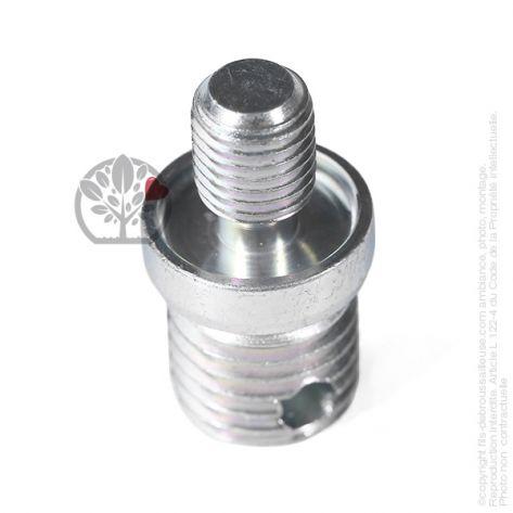Adaptateur tête débroussailleuse M10 x 1,25 LHM pour Tecomec Easy Work Ø109, Ø130 mm