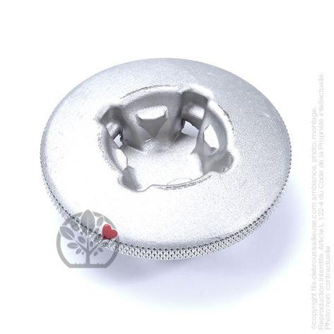 Bouton aluminium tête débroussailleuse Tecomec multi-fils araignée 8 fils. Ø80 mm