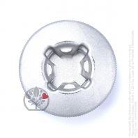 Bouton aluminium tête débroussailleuse Tecomec multi-fils araignée 4 fils. Ø80 mm