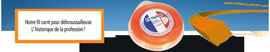 Fil Nylon carré orange débroussailleuse