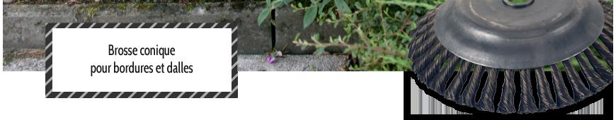 Brosse conique débroussailleuse