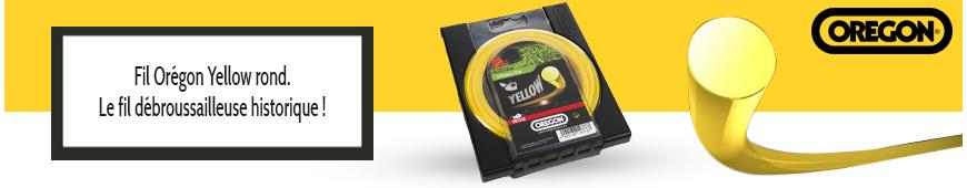 Fil Orégon Yellow rond jaune débroussailleuse