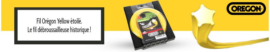 Fil Oregon Yellow étoilé jaune débroussailleuse